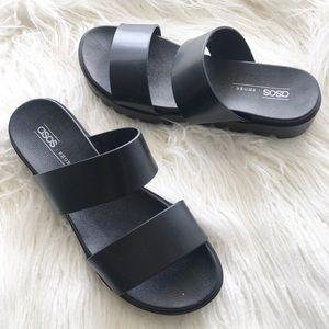 ASOS black platform sandals